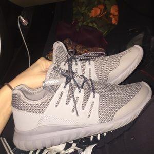 All gray adidas running shoe